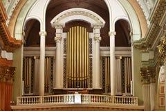 Organo della chiesa Immagine Stock