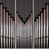 Organo della chiesa del tubo Fotografie Stock Libere da Diritti