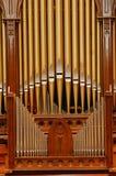Organo di tubo in chiesa fotografia stock libera da diritti