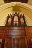 Organo di tubo della chiesa dell'oggetto d'antiquariato fotografia stock