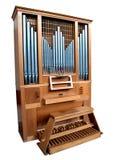 Organo isolato della chiesa Immagini Stock