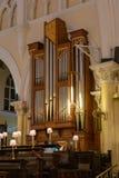 Organo musicale della chiesa della cattedrale di Cristo Lagos Nigeria immagini stock