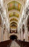 Organo nell'interno di Almudena Cathedral Fotografia Stock Libera da Diritti