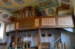 Organo nella chiesa di trinità santa in Czaplinek Fotografia Stock Libera da Diritti