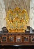 Organo nella chiesa, Svezia, Europa Fotografie Stock Libere da Diritti