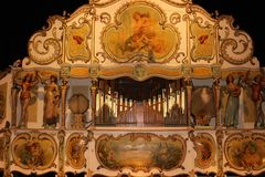 Organo a rullo nel museo dell'orologio, Utrecht Immagine Stock