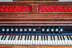 Organo variopinto della chiesa Immagine Stock