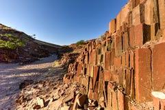 Organowe drymby - Twyfelfontein, Damaraland, Namibia Zdjęcie Stock