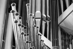 Organowe drymby w Hallgrimskirkja w Reykjavik, Iceland Fotografia Stock