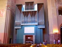 Organowego instrumentu muzycznego błękitny kolor obraz stock