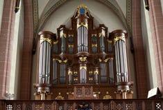 Organowy kościół w bazylice Nasz dama niebo w Zwolle holandie zdjęcia royalty free