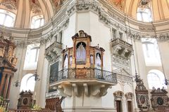 Organs in the church in Salzburg Royalty Free Stock Images