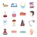 Organs, education, nature and other web icon in cartoon style.Medicine, art, hunting icons in set collection. Royalty Free Stock Images