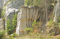 The Organs monadnock rock in Skalne Mesto Adrspach Royalty Free Stock Photos