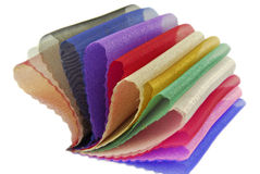 Organza fabric sampler Royalty Free Stock Images