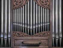Orgelpfeifen in Folge Lizenzfreies Stockfoto