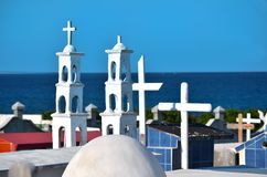 Orginal cementary on tropical island Royalty Free Stock Images