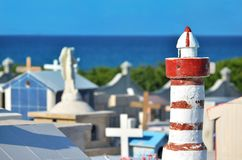Orginal cemetery on tropical island Stock Photography