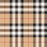 Orgoglio del fondo di struttura del tessuto del tartan dell'oro della Scozia senza cuciture Immagini Stock