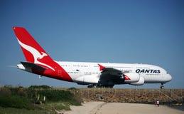 Orgoglio del parco, Qantas Airbus A380. Fotografia Stock Libera da Diritti