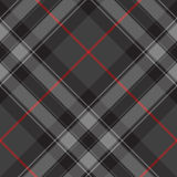 Orgoglio del picchiettio senza cuciture di struttura diagonale del tartan dell'argento della Scozia Fotografie Stock