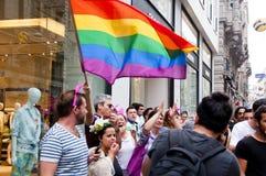 Orgoglio 2013 di Costantinopoli LGBT Fotografia Stock