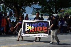 Orgoglio di Pinoy, parata di orgoglio di Vancouver fotografia stock