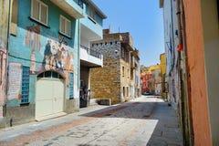 ORGOSOLO, ITÁLIA - 21 DE MAIO DE 2014: Pinturas de parede Imagem de Stock