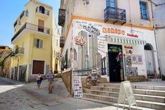 ORGOSOLO, ITALIA - 21 MAGGIO 2014: Pitture di parete Fotografia Stock Libera da Diritti