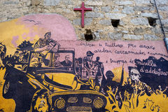ORGOSOLO, ITALIA - 21 MAGGIO 2014: Pitture di parete Immagine Stock Libera da Diritti
