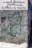 ORGOSOLO, ITALIE - 26 juillet 2015 - peintures de mur typiques sur Photo libre de droits