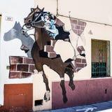 ORGOSOLO, ITALIE - 26 juillet 2015 - peintures de mur typiques sur image libre de droits