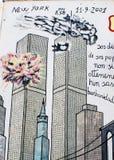 ORGOSOLO, ITALIE - 26 juillet 2015 - peintures de mur typiques sur images libres de droits