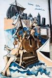 ORGOSOLO, ITALIE - 26 juillet 2015 - peintures de mur typiques sur photo stock