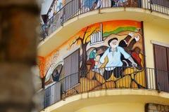 ORGOSOLO, ITALIE - 21 MAI 2014 : Peintures de mur Photo stock
