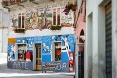 ORGOSOLO, ITALIE - 21 MAI 2014 : Peintures de mur Photographie stock libre de droits