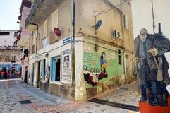 ORGOSOLO, ITALIEN - 21. MAI 2014: Wandbilder Lizenzfreie Stockfotografie