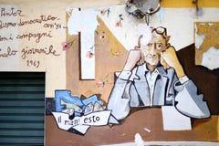 ORGOSOLO, ITALIEN - 21. MAI 2014: Wandbilder Lizenzfreie Stockfotos