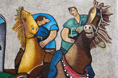 ORGOSOLO, ITALY - MAY 21, 2014: Wall paintings Stock Image
