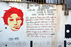 ORGOSOLO ITALY 4 October 2015 Murales in Orgosolo Italy Since about 1969 Royalty Free Stock Images