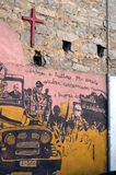 ORGOSOLO ITALY 4 October 2015 Murales in Orgosolo Italy Since about 1969 Stock Photo