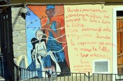 ORGOSOLO ITALY 4 October 2015 Murales in Orgosolo Italy Since about 1969 Stock Photos
