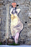 ORGOSOLO ITALY 4 October 2015 Murales in Orgosolo Italy Since about 1969 the wall paintings reflect different aspects of Sardinia Stock Image