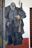 ORGOSOLO ITALY 4 October 2015 Murales in Orgosolo Italy Since about 1969 the wall paintings reflect different aspects of Sardinia Stock Photography