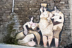 Orgosolo murales - Sardinia Stock Photos