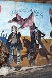 Orgosolo murales - Sardinige Stock Foto's