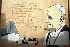Orgosolo murales - Sardinige Stock Foto