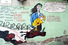 Orgosolo murales - Sardinige Royalty-vrije Stock Foto's