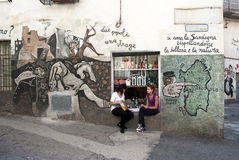 Orgosolo Wandbilder - Sardinien Lizenzfreies Stockfoto