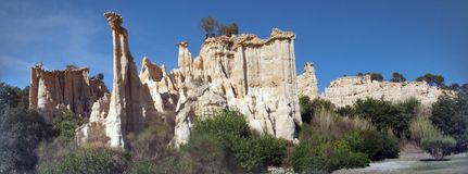 Orgues of ille sur Tet near Perpignan France. Natural formation of rock look like pipe of organ Stock Photos